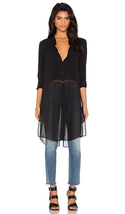BCBGeneration Combo Blouse in Black