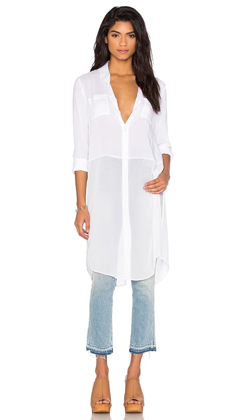 BCBGeneration Combo Blouse in White