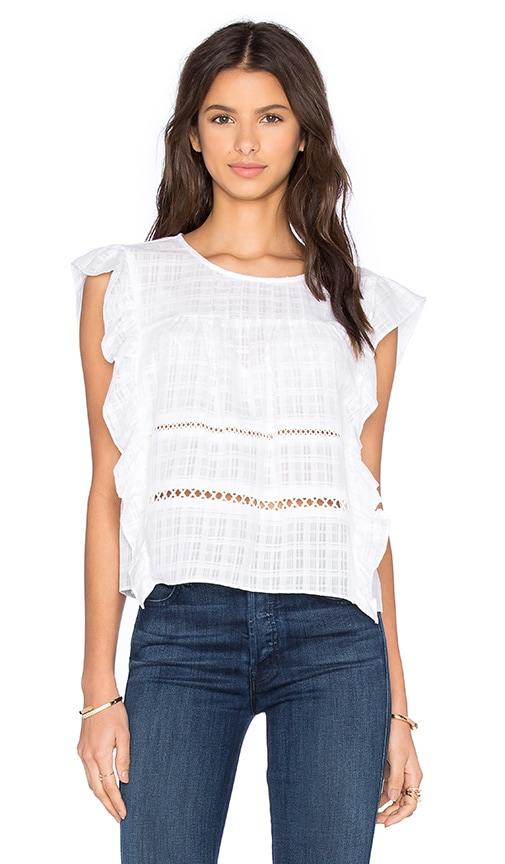 BCBGeneration Ruffle Tank in White