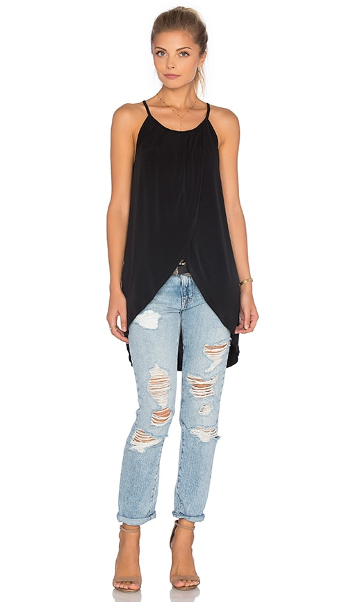 BCBGeneration Drape Halter Tank in Black