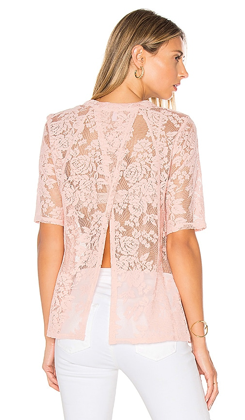 BCBGeneration Open Back Tee in Blush