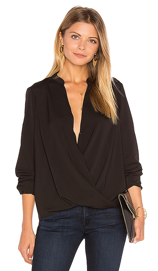 BCBGeneration Surplice Blouse in Black