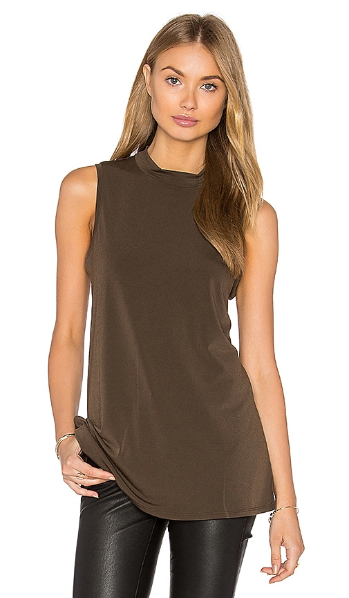 BCBGeneration Twist Back Tank in Brown
