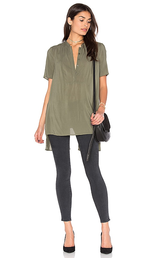 BCBGeneration Slit Back Tunic in Olive
