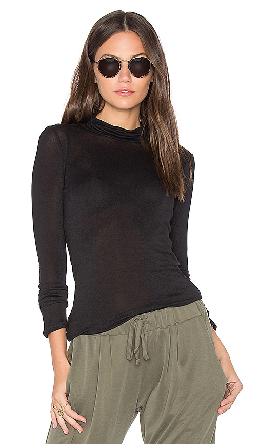 BCBGeneration Turtleneck Tee in Black