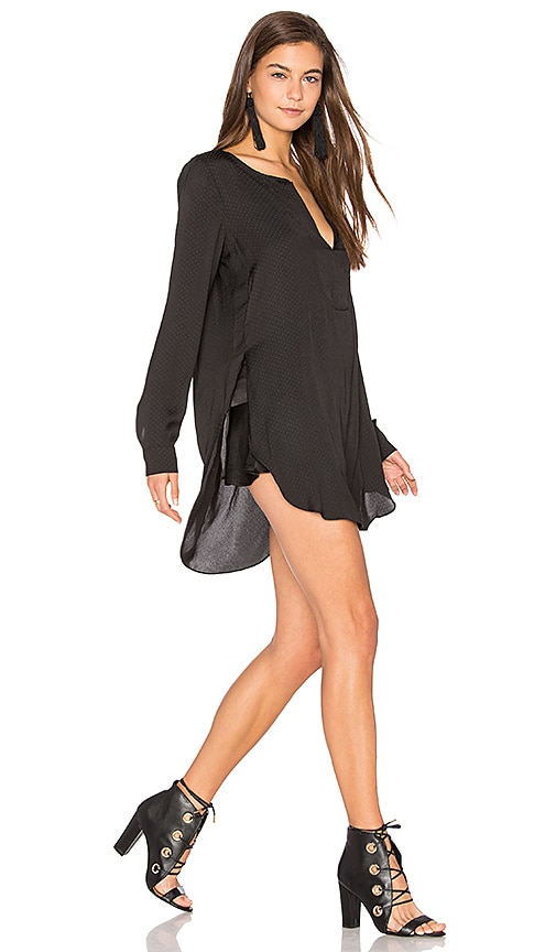 BCBGeneration Shirred Blouse in Black
