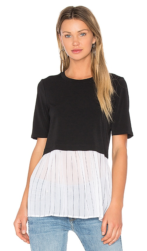 BCBGeneration Colorblock Top in Black