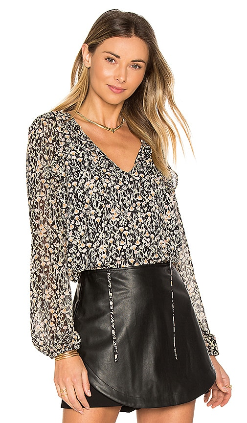 BCBGeneration Ruffle Blouse in Black