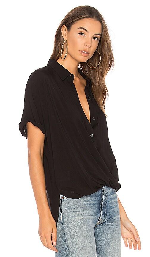 e2d8e020e0d2 Discount BCBGeneration Wrap Hem Dolman Sleeve Shirt In Black ...