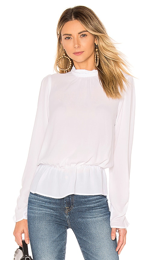 c1fb4a7c39ea1f BCBGeneration Turtleneck Blouse in Optic White | REVOLVE