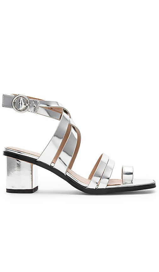 Erica Sandal in Metallic Silver. - size 8.5 (also in 10,6,6.5,7.5,8,9,9.5) BCBGeneration