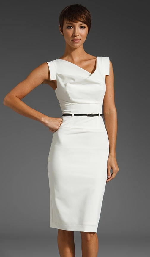 Black Halo Classic Jackie O Dress in White from Revolve.com