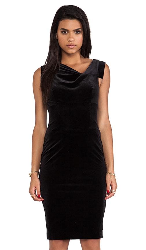 ab9e58d09a Black Halo Jackie O Dress in Black Velvet