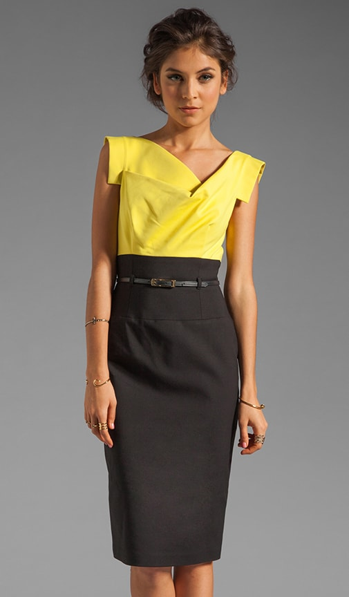 Jackie O Two Tone Dress
