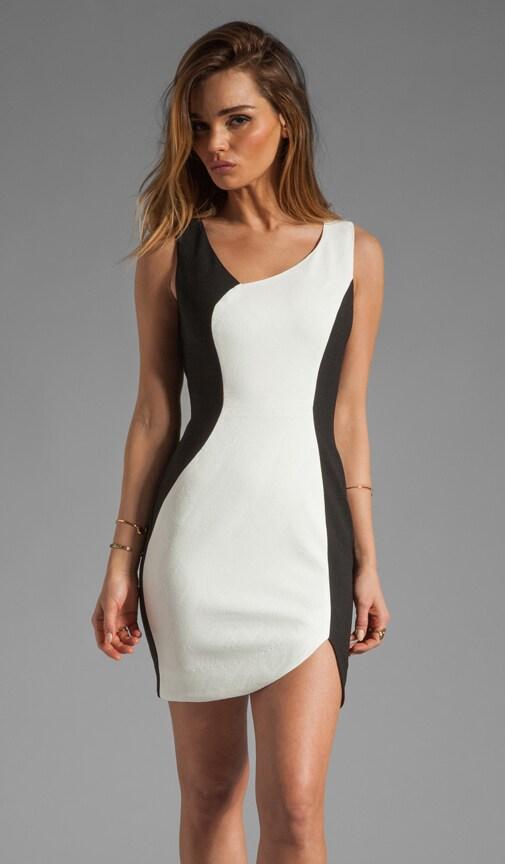 Harper Stretch Jacquard/Pebble Crepe Mini Dress