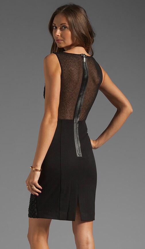 Miranda Stretch Gab/Crochet Lace/Textured Mesh Dress