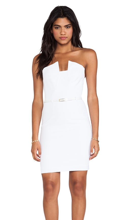 In Revolve Black Optic Dress Halo Lena Mini White 0xTrqITA6