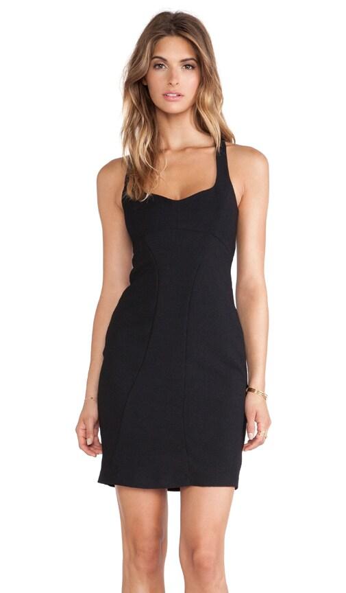 Black Halo Camden Sheath Mini Dress in Black