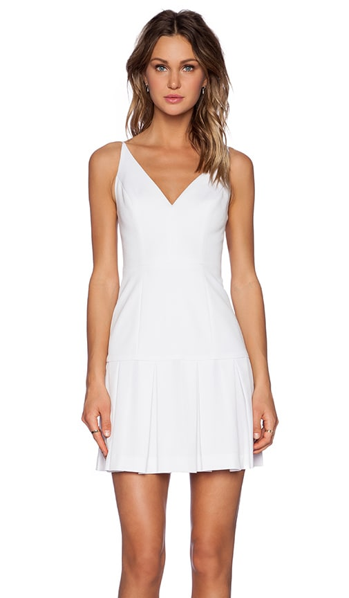Black Halo Alayna Mini Dress in White