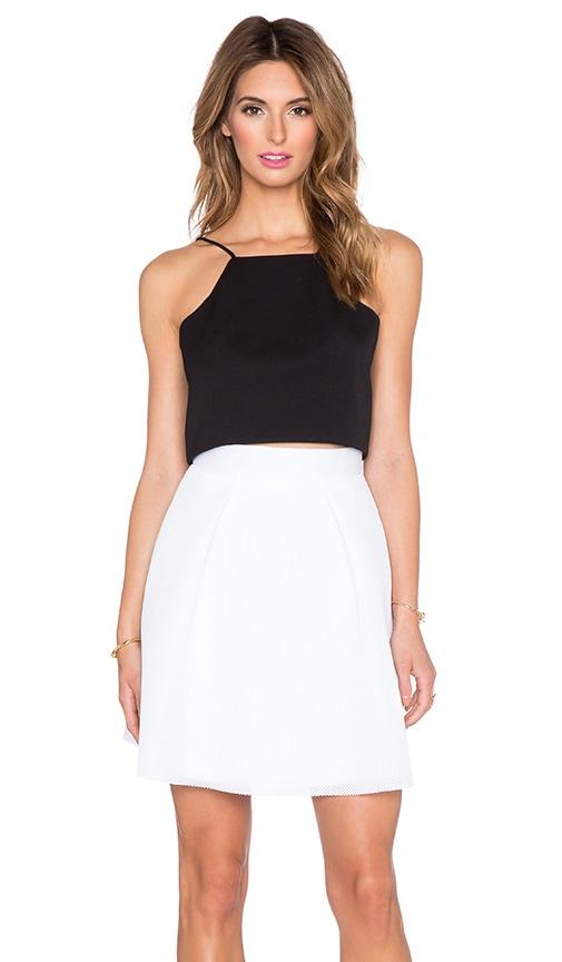 Black Halo Tristan 2 Piece Dress in White & Black