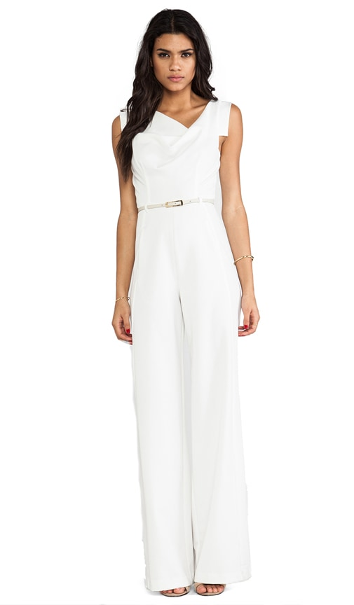 Black Halo Jackie Jumpsuit in Winter White | REVOLVE