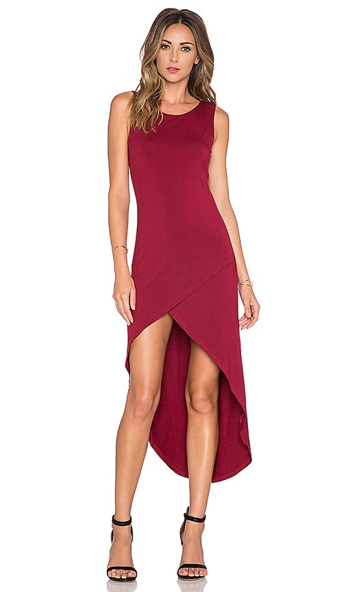 Bishop + Young Haley Maxi Dress in Burgundy
