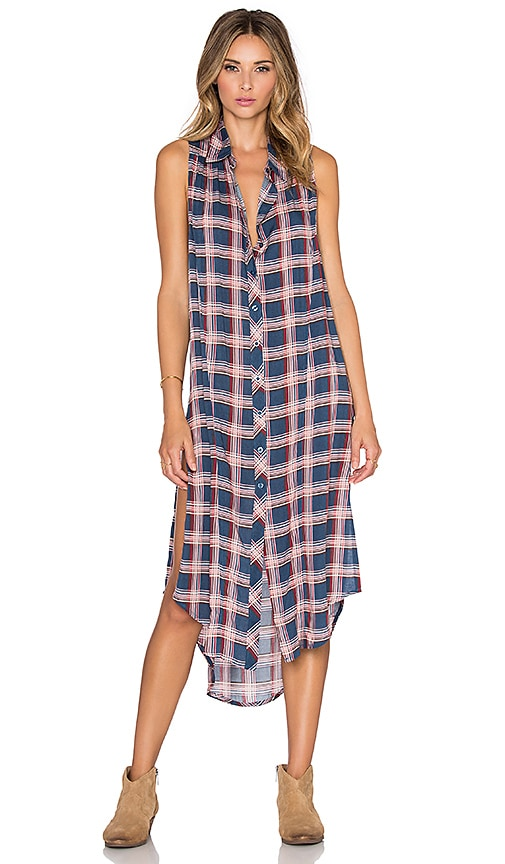 Bishop + Young Sleeveless Plaid Maxi Dress in Plaid