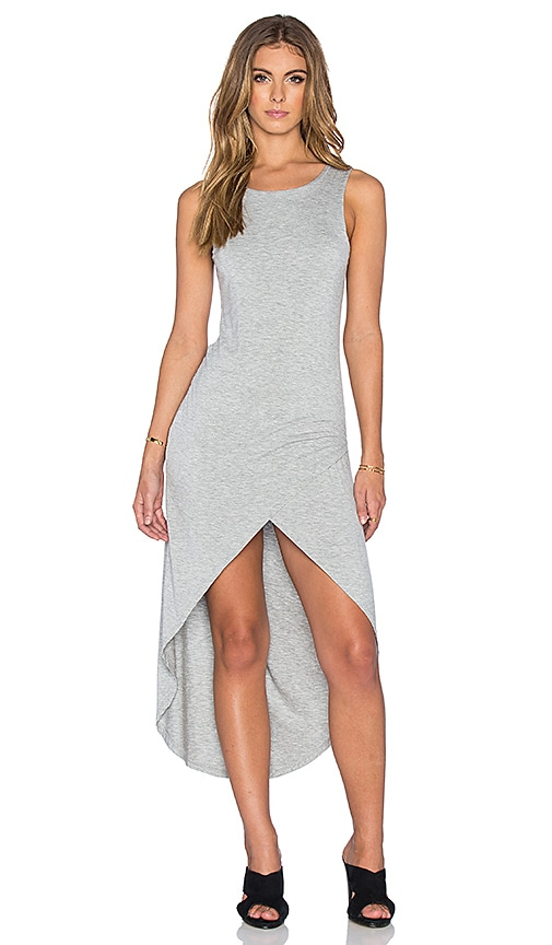 Bishop + Young Haley Hi-Low Maxi Dress in Gray