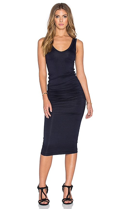 Bishop + Young Alba Midi Dress in Navy