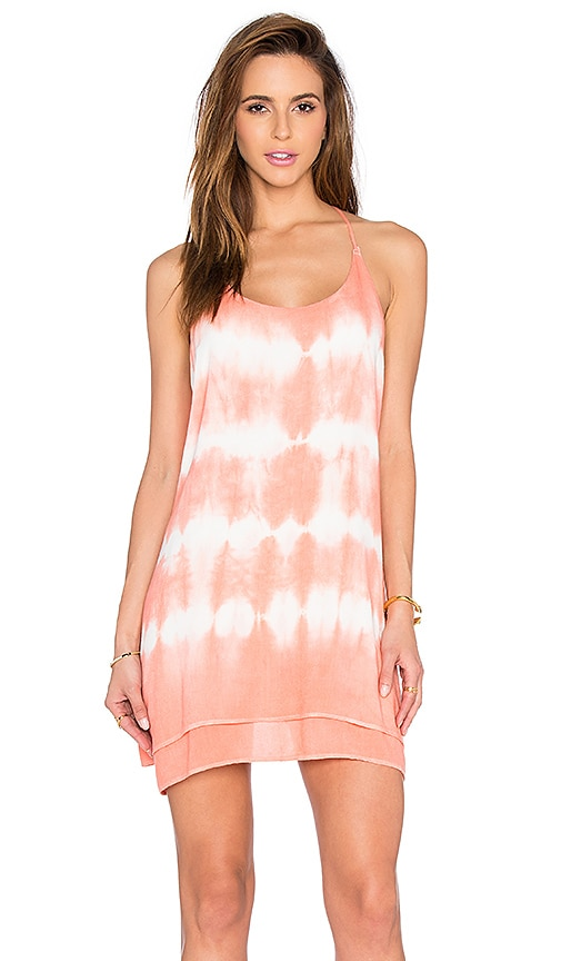Bishop + Young Tie Dye Dress in Coral