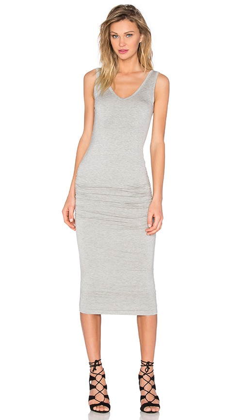 Bishop + Young Alba Midi Dress in Gray