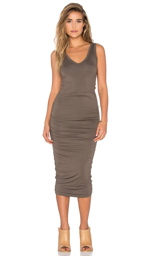 Bishop + Young Alba Midi Dress in Olive