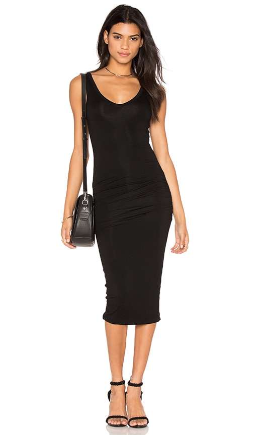 Bishop + Young Alba Midi Dress in Black