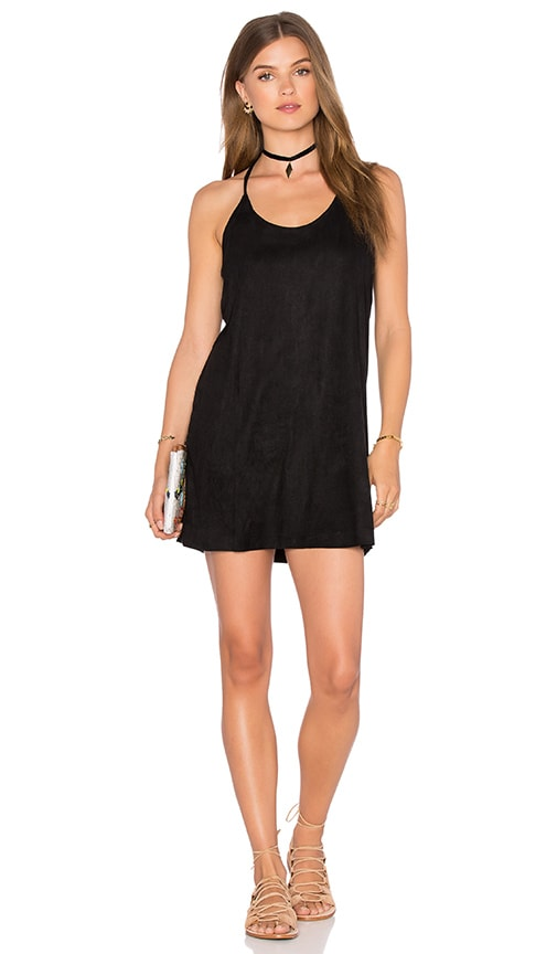 Bishop + Young Bella Suede Mini Dress in Black