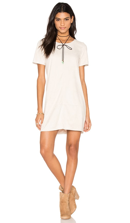 Bishop + Young Ivy Suede Shift Dress in Beige