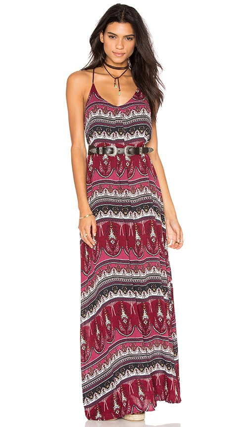 Bishop + Young Maxi Dress in Burgundy