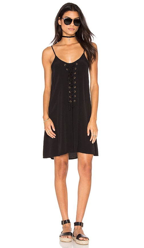 Bishop + Young Laila Lace Up Dress in Black
