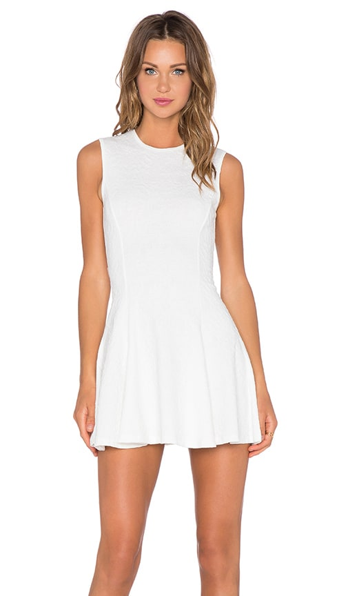 Bishop + Young Fit & Flare Mini Dress in White