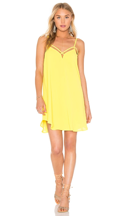 Bishop + Young Cross Strap Dress in Yellow