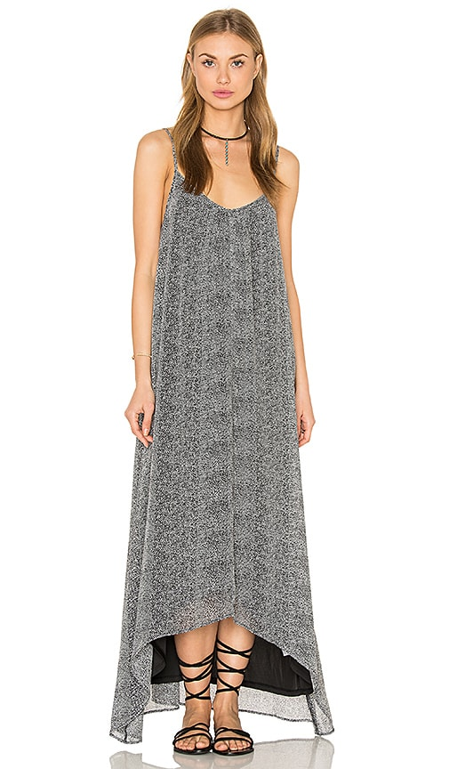 Bishop + Young Printed Maxi Dress in Black & White