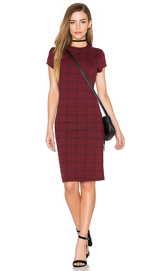 Bishop + Young Ellie Plaid Mini Dress in Red