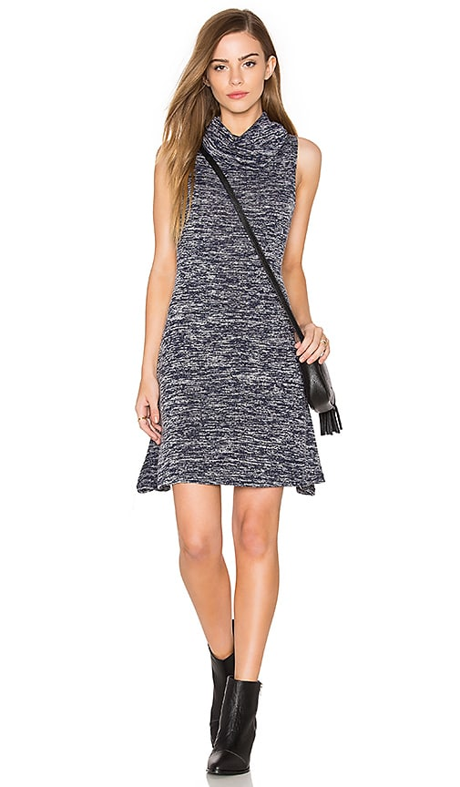 Bishop + Young Cowl Neck Sleeveless Dress in Blue
