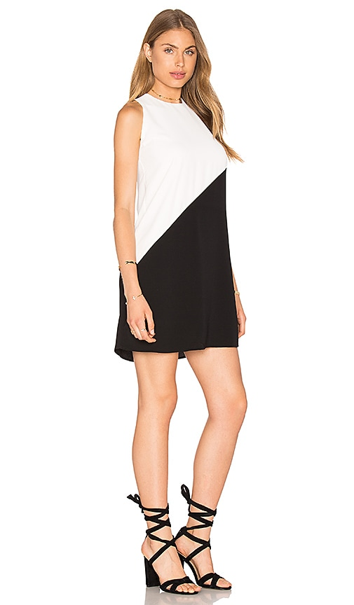 Bishop + Young Colorblock Dress in Black & White