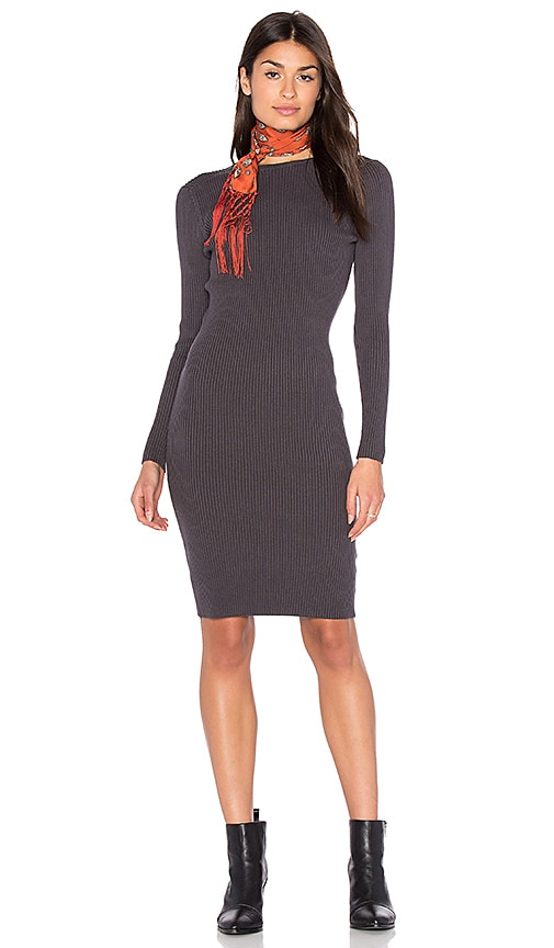 Charcoal Grey Sweater Dress