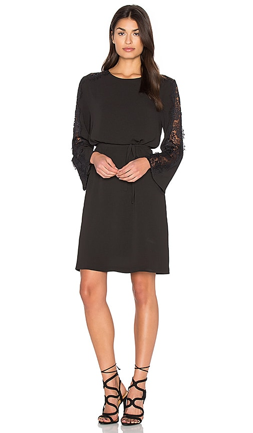 Bishop + Young Lace Bell Sleeve Dress in Black