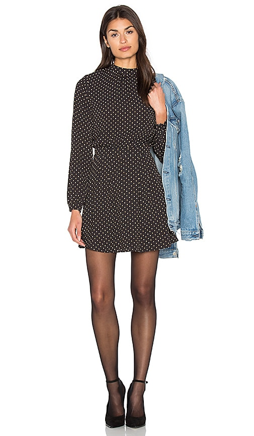 Bishop + Young High Neck Long Sleeve Dress in Black