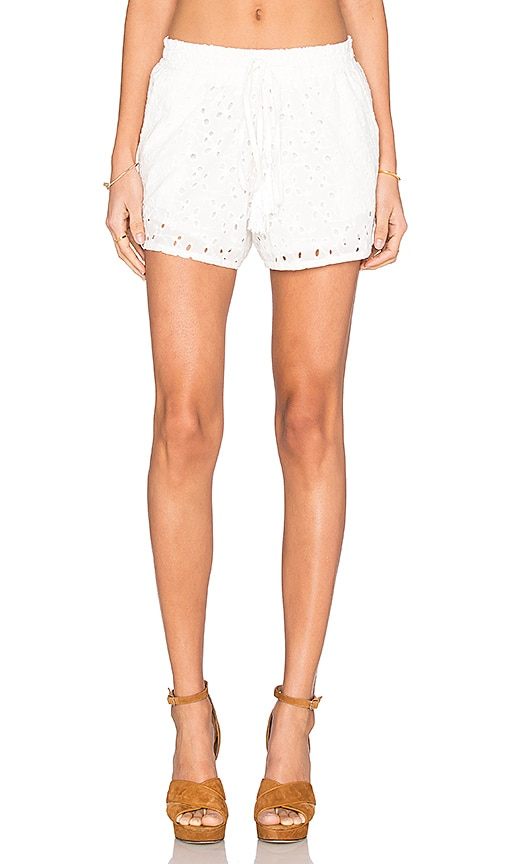 Bishop + Young Eyelet Short in White