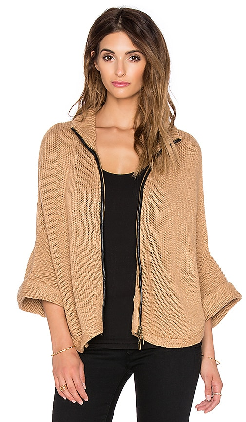 Bishop + Young Ana Cape Sweater in Camel