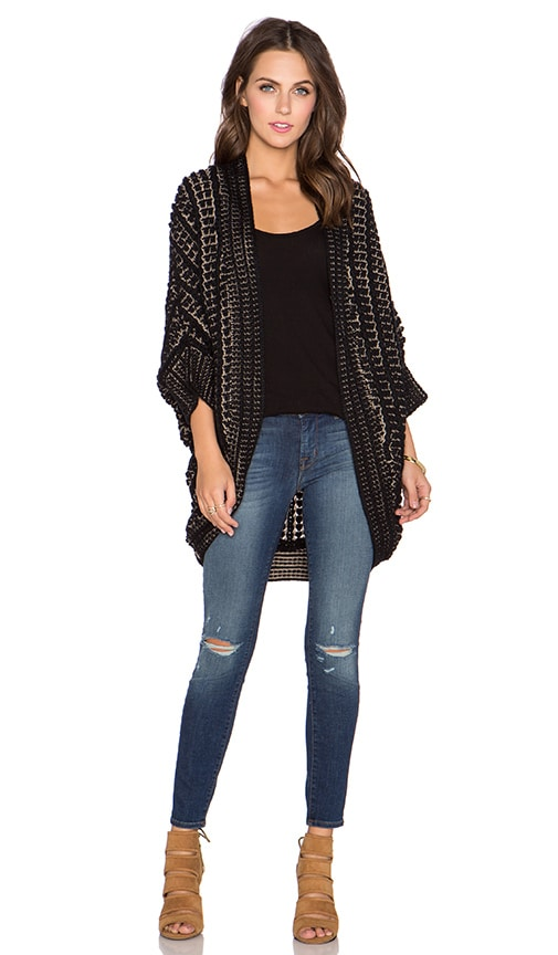 Bishop + Young Margaux Cocoon Sweater in Black