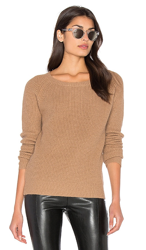 Bishop + Young Fuzzy Pullover Sweater in Tan